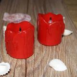 Nuevo diseño de la fábrica al por mayor de la gota del rasgón en forma de vela de Tealight LED