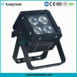 RoHS DMX 4 15W Ostar RGBW LED Aluminiumvierradantriebwagen-Farbe LED NENNWERT Licht