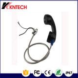 El microteléfono de teléfono T6 con el teléfono rugoso de 3.5m m Gato fijó a mano con la cuerda acorazada