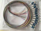 Multimoda monomodale ottico della treccia della fibra di LC APC Upc, treccia di LC del ramo di uscita 12