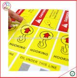 Etiqueta engomada adhesiva material del papel revestido y del vinilo