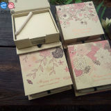 Pen (NP-FG-0007)를 가진 베스트셀러 New Design Kraftpaper Notepad Box