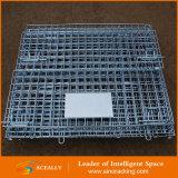 Rollender faltender zusammenklappbarer Metallspeicher-Maschendraht-Behälter-Rahmen