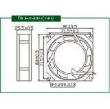 Kühlventilator Wechselstrom-220V 80mm