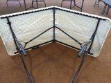 6 do HDPE de sopro do molde pés de dobra da tabela na meia tabela