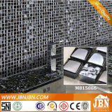Emperador Marble, Convex Glossy 및 Frosted Glass Mosaic (M815057)