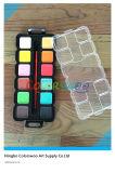 12 kleur 3.0cm Square Water Color Cake met Brush voor Painting en Drawing