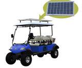 Panel solar del coche puro carrito de golf con la cesta trasera