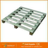 2/4가지의 방법 Single 또는 Double Face Stackable Metal 및 Plastic Pallet