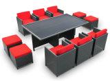 屋外の家具の卸売の藤のダイニングテーブル及び椅子セット