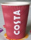 Haltbare schützende gewölbtes Papier-heiße Kaffeetassen