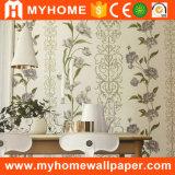 papel de parede luxuoso da flor do desenhador da largura larga de 1.06m Washable