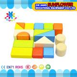 O Desktop de madeira das crianças brinca o enigma de madeira dos blocos de apartamentos desenvolventes dos brinquedos (XYH-JMM10007)