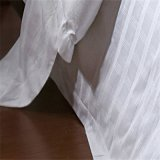 O linho do fundamento do algodão do hotel da verificação do cetim com Comforter ajustou-se (WS-2016198)