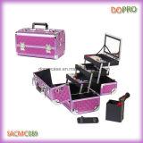 Pink Diamond ABS color Profesional Caso de maquillaje de aluminio (SACMC089)