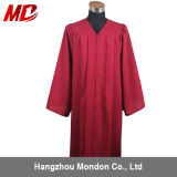 Rouge foncé mat de lycée de robe en gros de graduation