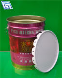 Lidsの20L Tinplate Metal Pail、Paintのために、Oil、Water、Chemical Use、Eco-Friendly