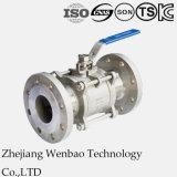 DIN 3PC a bridé le robinet à tournant sphérique de l'acier inoxydable 316 Dn150 Pn40