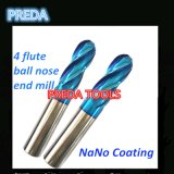 Uncoated 4 Flutes Ball Nose End Mills for Wood