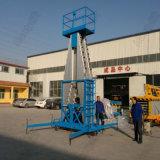 Elektrischer teleskopischer Mann-Doppelt-Mast-arbeitender anhebender Plattform-Aluminiumlegierung-hydraulischer Arbeits-Tisch