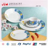 Insieme di ceramica del piatto con il disegno differente o il disegno del cliente