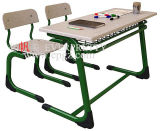 Bench Attached를 가진 Design와 Cheap 새로운 School Furniture 교실 Double Desk