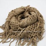 Акрилового шарф шеи повелительницы Померанцов Вязать способа с завязанным краем