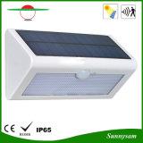 Luz solar impermeable de la pared del sensor de movimiento de la lámpara del jardín de la iluminación del triángulo al aire libre 36PCS SMD2835 LED del alto brillo