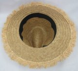 Fedora reale Summer Hat di Straw Hat con il bordo Edge (SW-080014) di Fringed