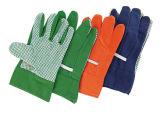 Работа Glove-2600 хлопка PVC одиночная поставленная точки