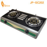 Jp-Gc202 cuerpo de acero inoxidable 2 quemador de la estufa de gas