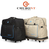 Chubontのカーキ色カラー拡張可能5つの車輪旅行ハンドバッグ