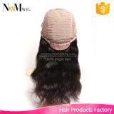 マレーシアUの部品のかつらのGluelessの櫛およびストラップによって漂白される結び目のレースのかつらが付いている最もよい人間の毛髪の品質の帽子