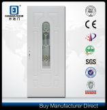 Воспламененная классикой дверь входа Prehung панели белизны 6 американская стальная