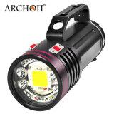 Archon 잠수 영상 빛 LED 토치 플래쉬 등 100watts는 IP68까지 방수 처리한다
