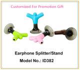 Подгонянный цвет логоса рекламируя подарок для стойки телефона Splitter наушника (ID382)