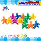 Kind-Plastiktischplattenspielzeug-weiche Puppe-Bausteine