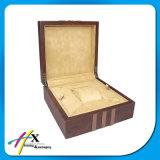 Scatola di presentazione della vigilanza dei singoli della vigilanza della grande scheda di legno spessa di formato di memoria uomini su ordinazione di lusso della casella