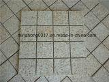 Granito amarillo oxidado G682 para la piedra del bordillo/la losa/Cubestone