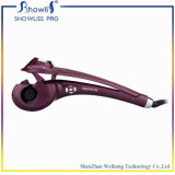 Encrespador de cabelo 2016 profissional de giro automático com encrespador de giro do ferro de ondulação do indicador do LCD o auto