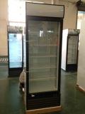 Refrigerador ereto de Bevarage da única porta com luz do dossel