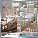 Beige Polierstein/Marmortreppe/Jobstepp/Aufbruch-Fußboden-Fliese-Vorhalle
