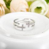 Золото Wedding косые перекрестные регулируемые кольца для женщин (CRI0526)