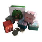 정연한 모양 주문 주석 식품 포장 주석 상자 승진 선물 도매