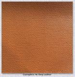 Cuir en cuir de PVC de Taiga de vente chaude pour le sac