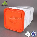 ведро PP ведерка сыра 20L упаковывая квадратное пластичное с белыми крышкой и ручкой