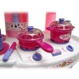 Brinquedo plástico da cozinha do jogo de crianças dos PP ajustado com luz e som 1078442