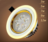 3With5With7With9With12W LED Downlight pour l'éclairage de magasin et de magasin
