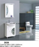 Vanité fixée au sol blanche de Module de salle de bains de PVC, meubles grands