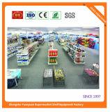 Cremalheiras 072615 das prateleiras dos casos de indicador do supermercado